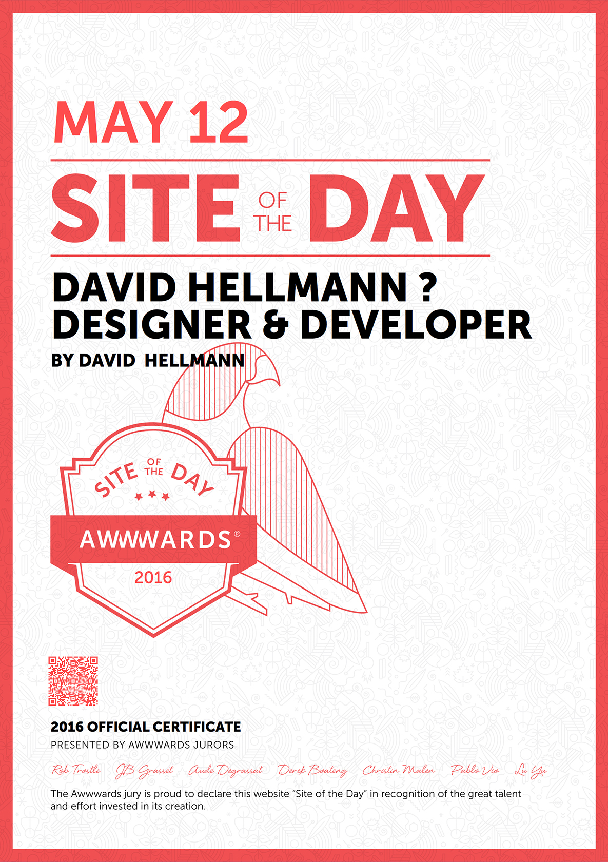 Awwwards Site Of The Day 2016 05 12