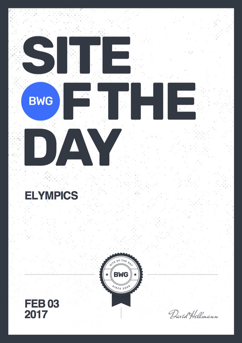 Bestwebsite Gallery Sotd 2017 02 03 Elympics