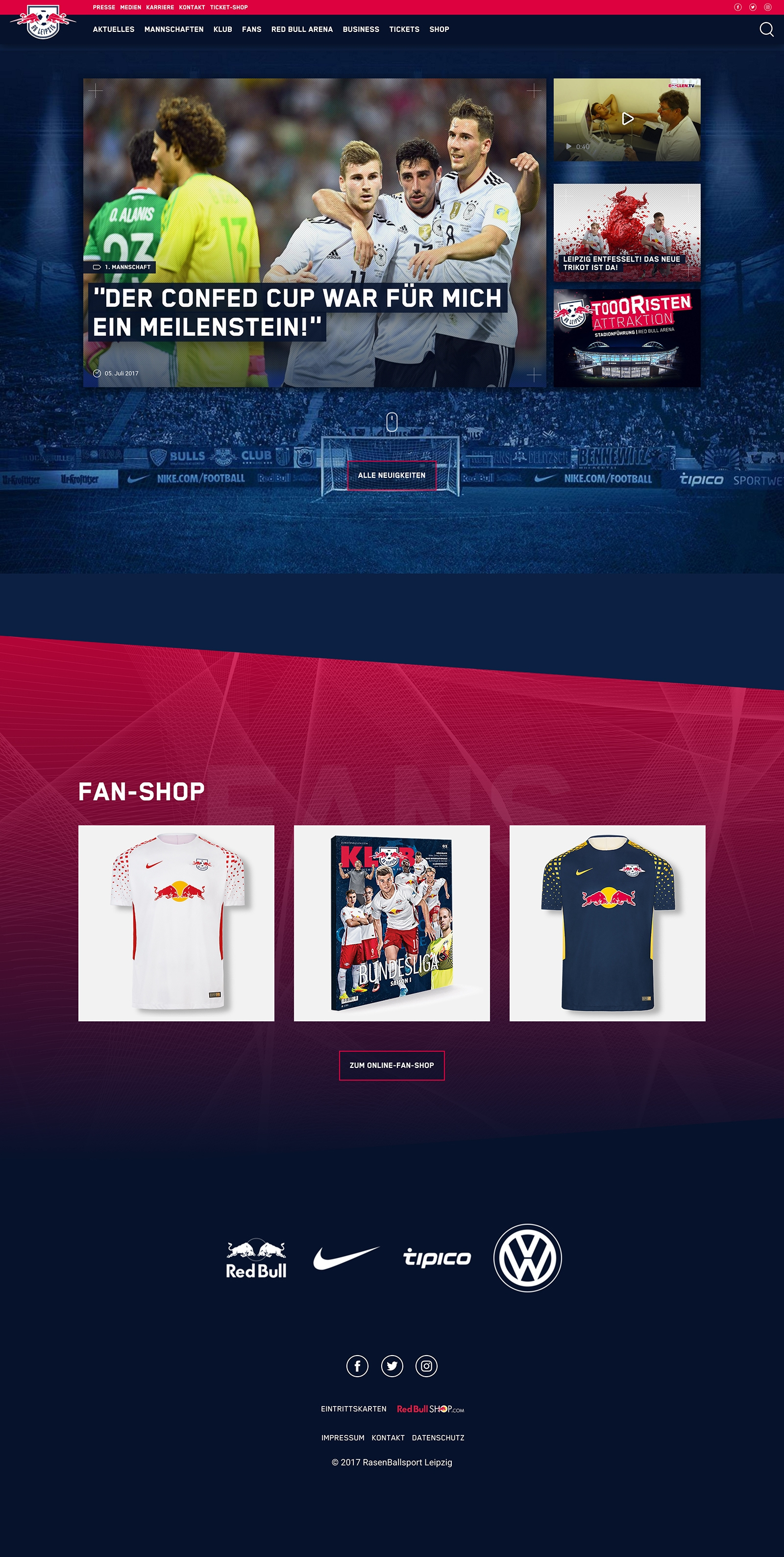 rb leipzig website