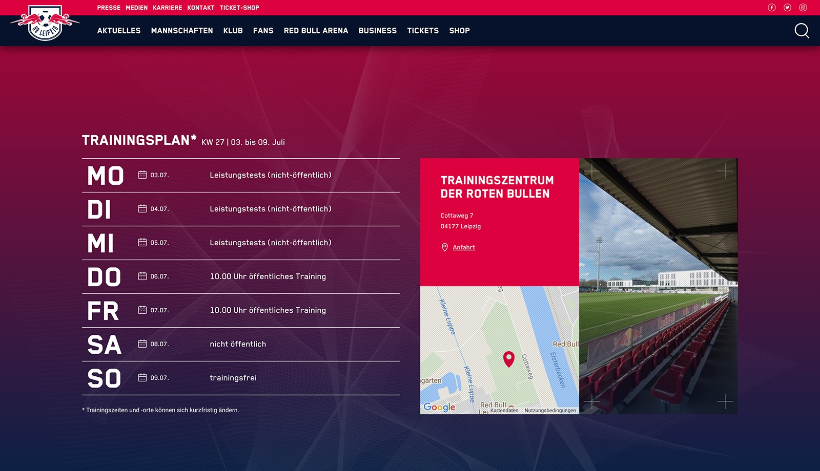 Rb Leipzig Website Relaunch David Hellmann Digital Designer